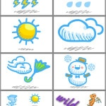 Weather Memory Flash Cards (x16)