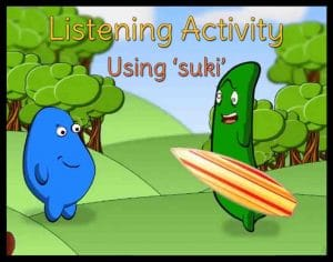 Japanese video listening skills using suki
