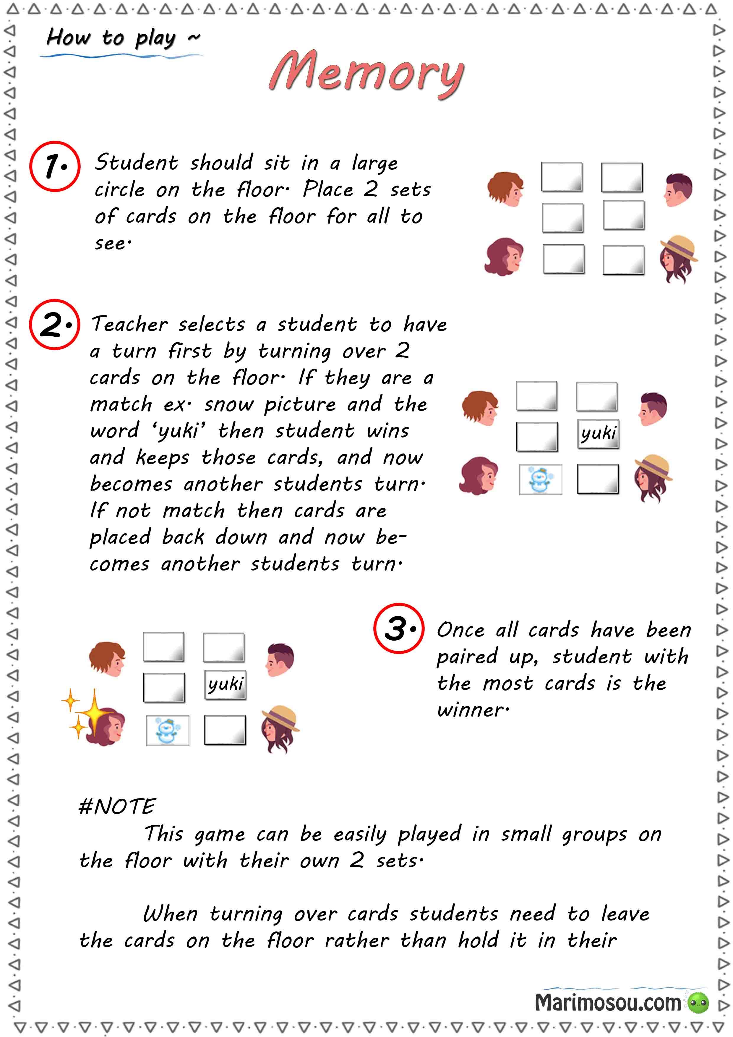 memory game guide