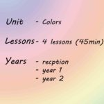 Japanese Colours – Unit – Year Rec +1 + 2