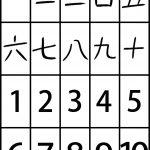 Japanese Kanji Number Cards