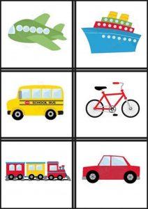 Japanese transport flash cards