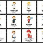 Japanese Jobs Flash Cards